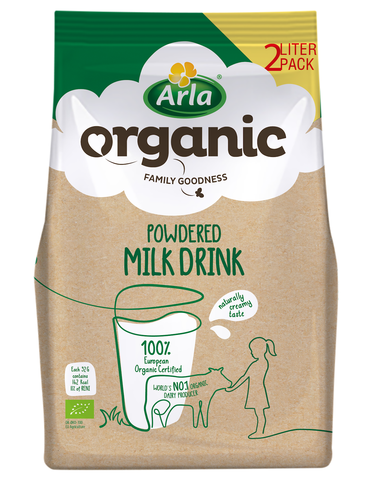 Arla Organic Powdered Milk Powdered Milk 2 Liter
