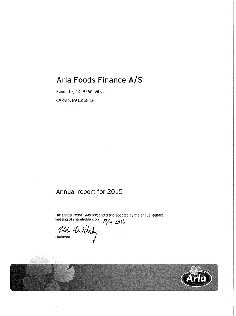 Arla Foods Finance A/S 2015